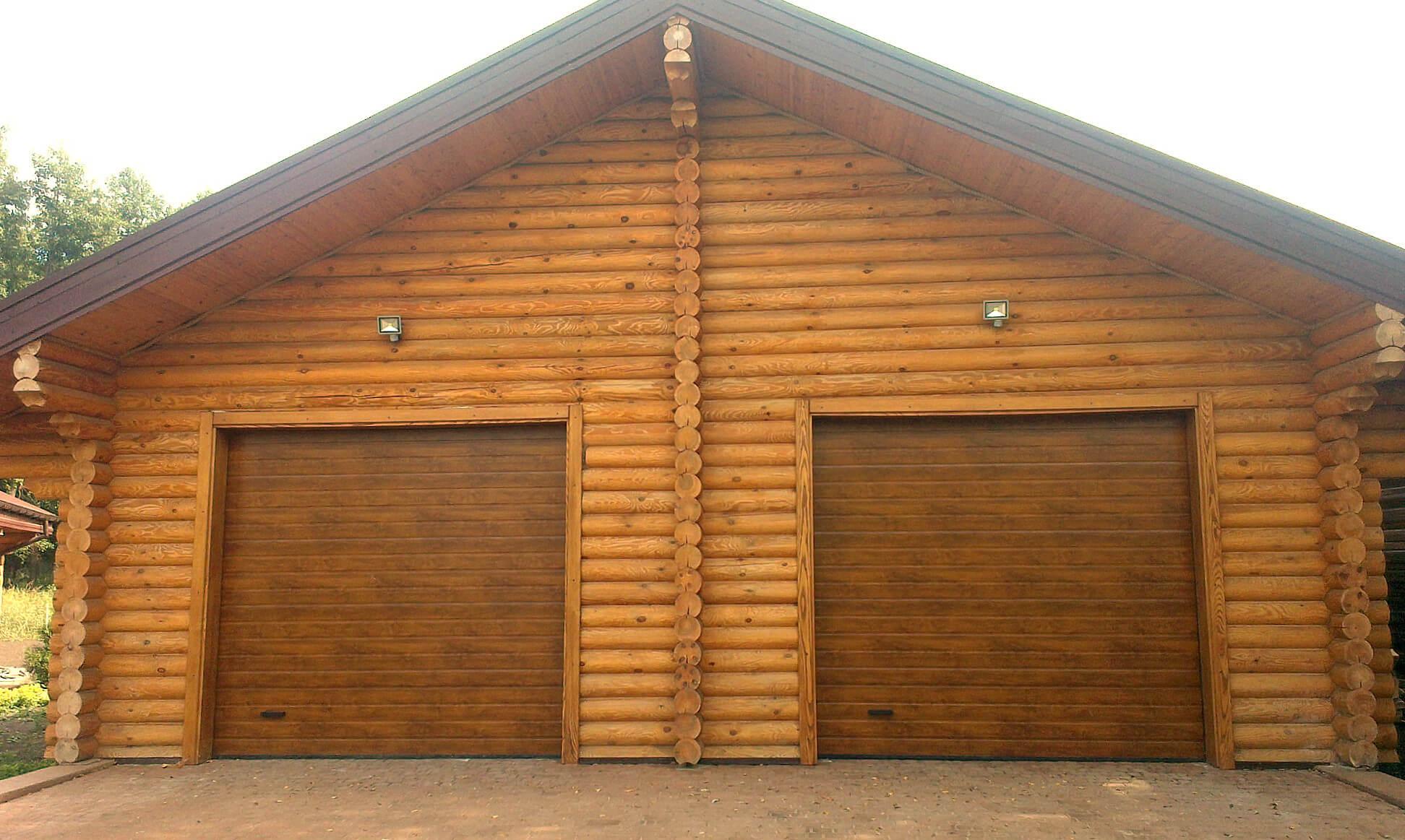 Секционные автоматические гаражные ворота 3000х2000 мм