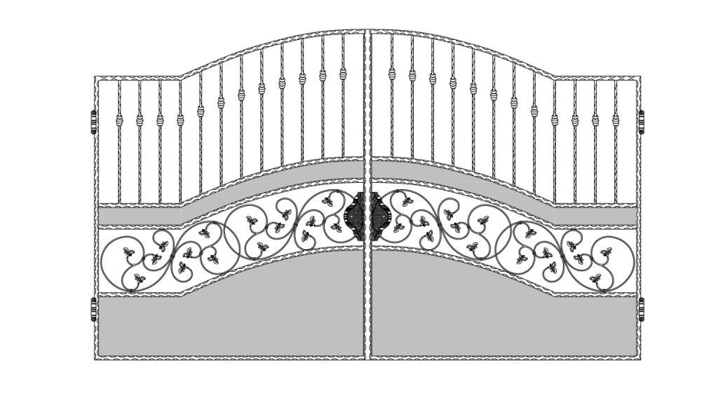 Кованые ворота эскиз №10