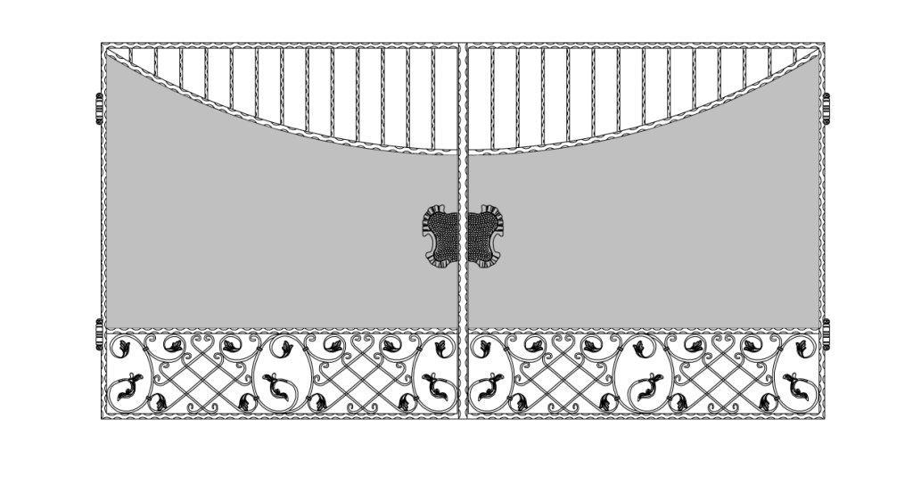 Кованые ворота эскиз №12