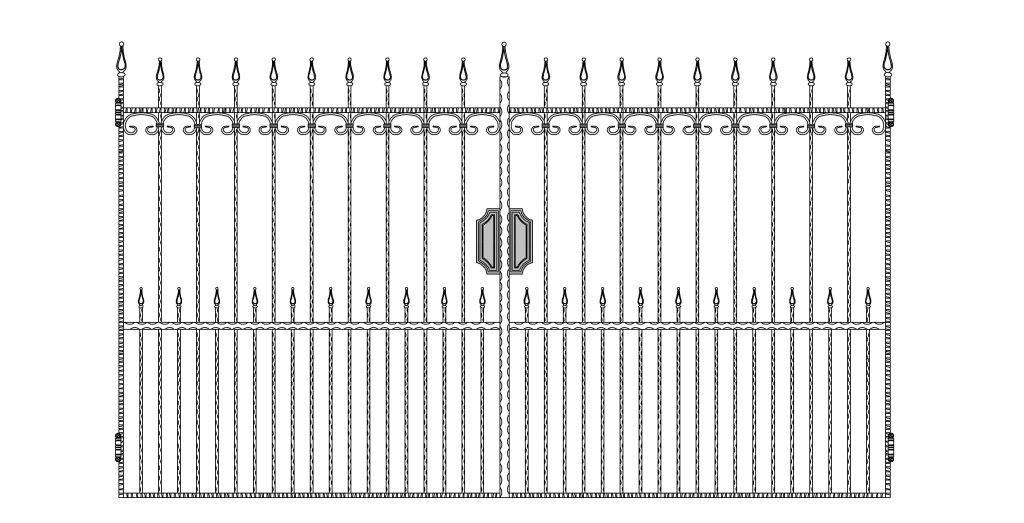 Кованые ворота эскиз №1
