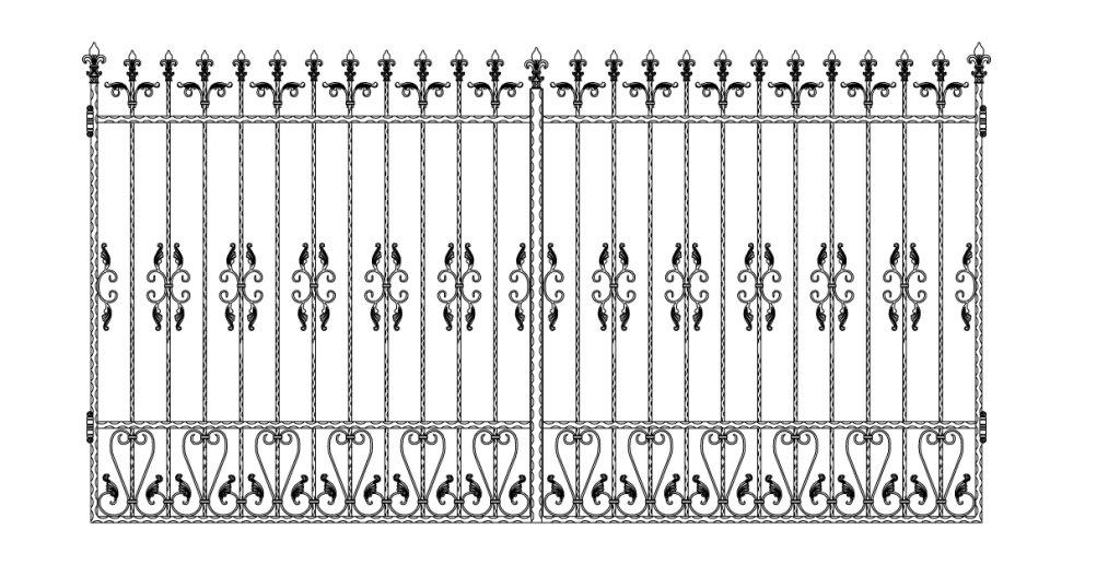 Кованые ворота эскиз №3