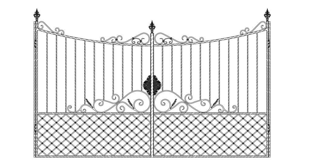 Кованые ворота эскиз №4