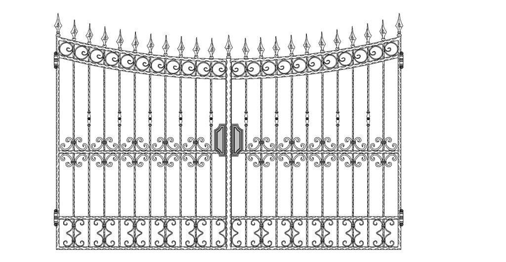 Кованые ворота эскиз №5