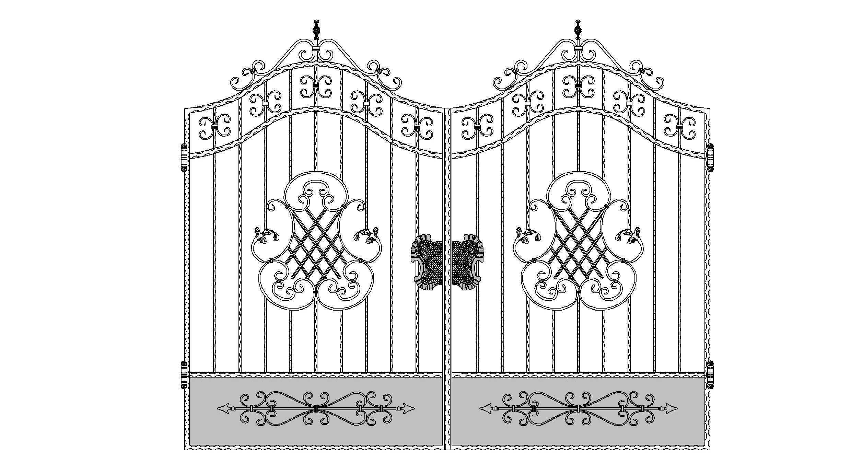 Кованые ворота эскиз №6