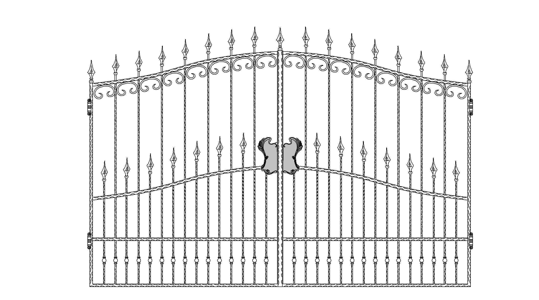 Кованые ворота эскиз №7