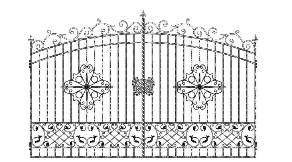 Кованые ворота эскиз №8