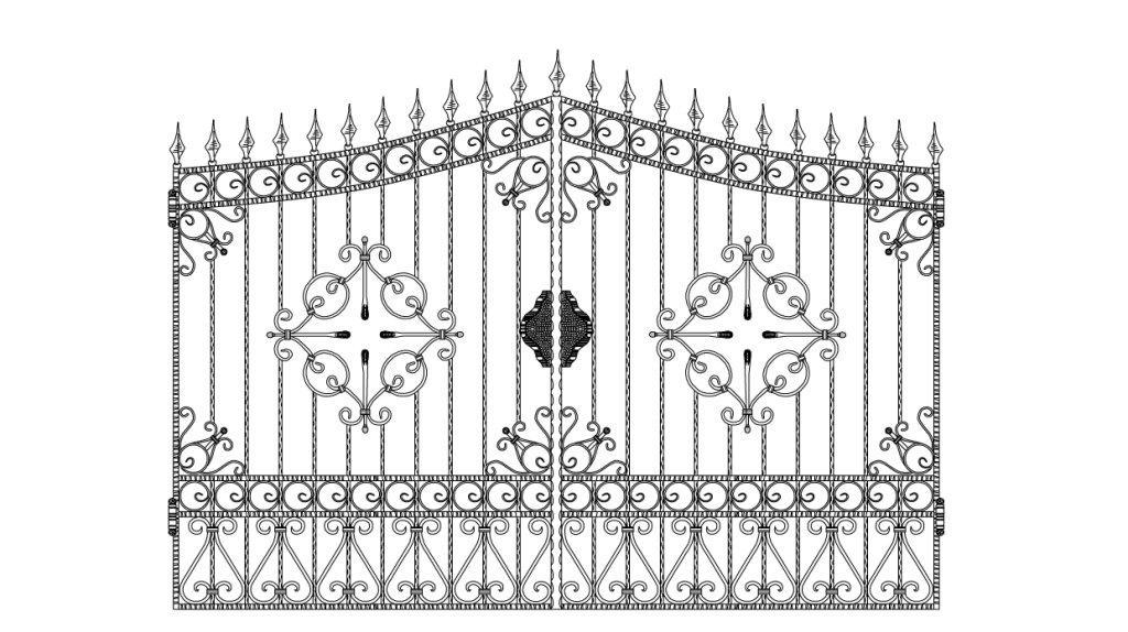 Кованые ворота эскиз №9