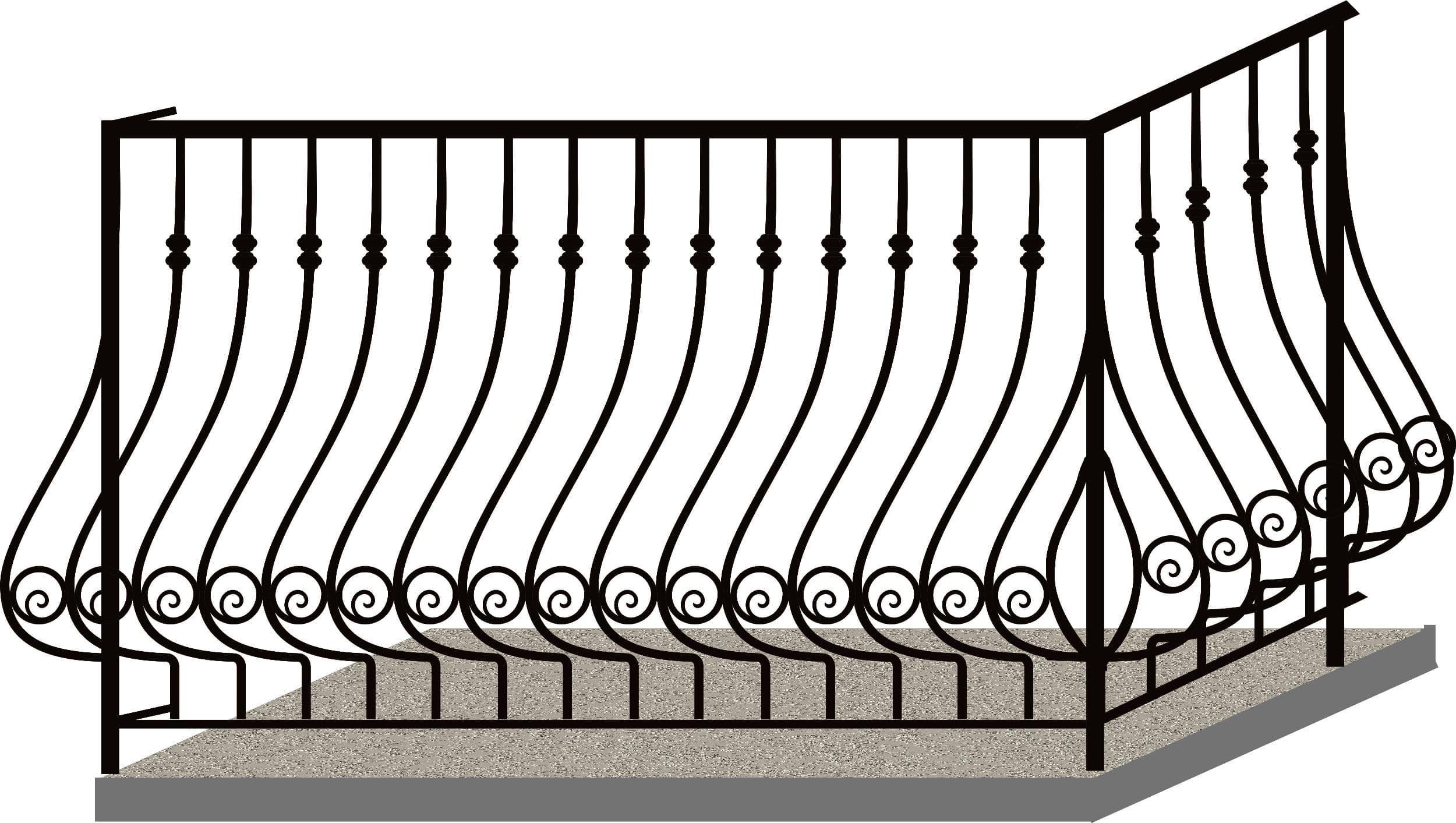 Эскизы балконных ограждений. Код 4-05