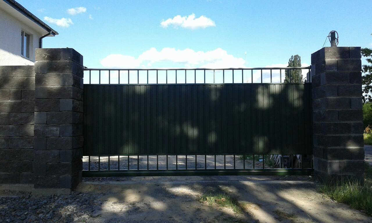 ворота со вставками